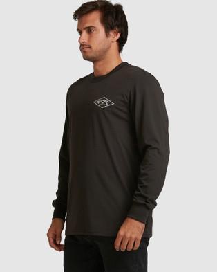 Billabong - Adiv Diamond Long Sleeve Tee - T-Shirts & Singlets (BLACK) Adiv Diamond Long Sleeve Tee