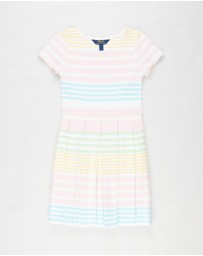 Polo Ralph Lauren - SS Stripe Structured Knit Dress - Teens