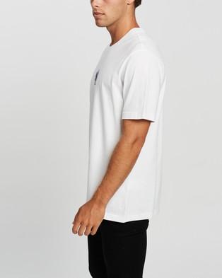 adidas Originals 3D Trefoil Tee - T-Shirts & Singlets (White & Crew Blue)