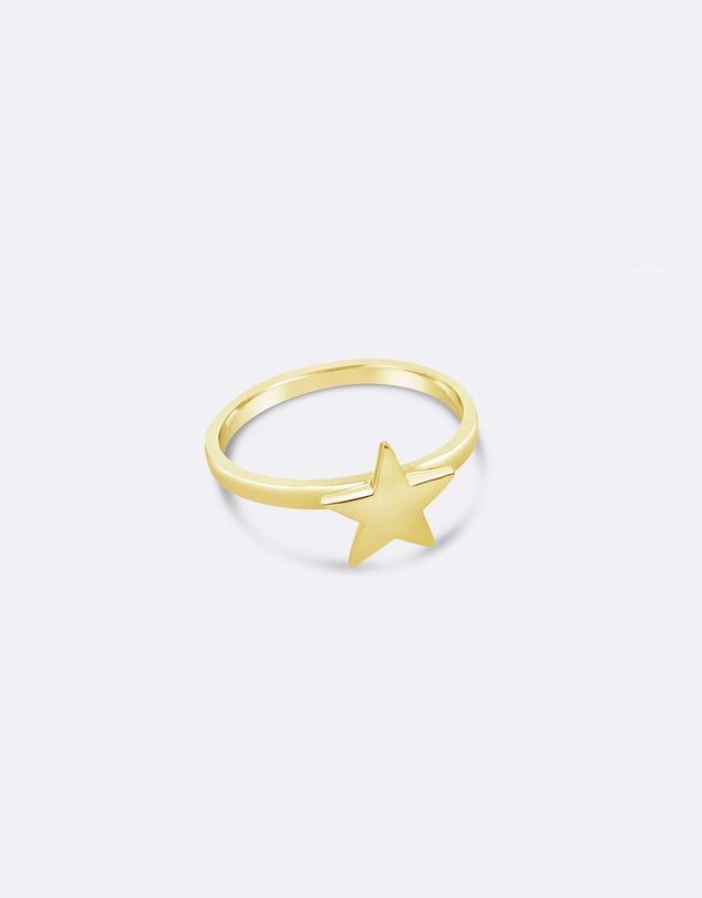 Women Gold Star Ring