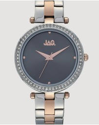 Jag - Ava Grey Sunray Rose Gold Dial Two Tone Silver & Rose Gold Bracelet 36 mm