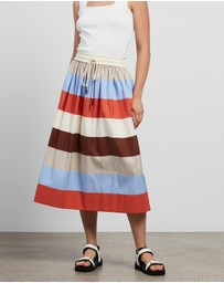 Lee Mathews - Lina Stripe Skirt