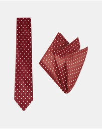 Buckle - Spotted Tie & Pocket Square Set