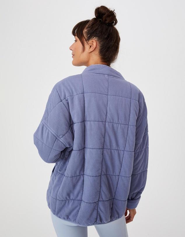 Women Quilted Zip Through Jacket
