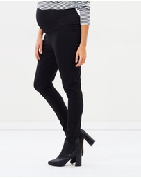 Angel Maternity - Maternity Fitted Slim Work Pants