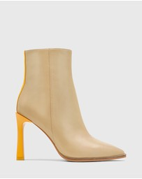 Wittner - Harlo Leather Pointed Toe Ankle Boots