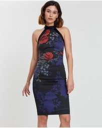 Karen Millen - Floral Halter Neck Dress