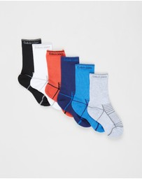 Calvin Klein - 6-Pack Athletic Mesh Crew Socks