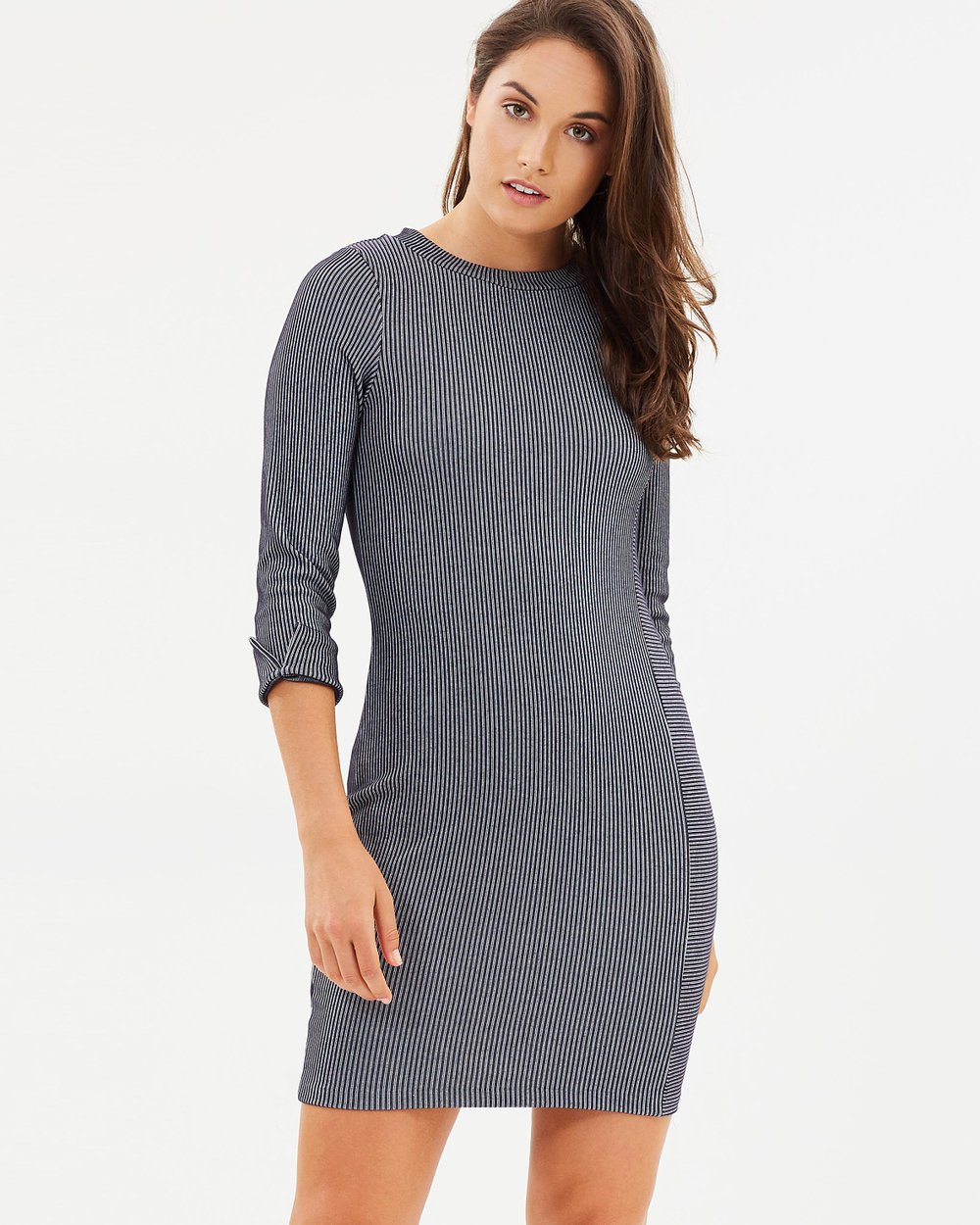 90494dc473 Sario Ribbed Jersey Dress by French Connection Online