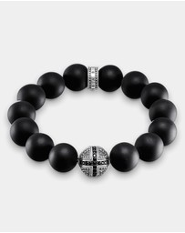 THOMAS SABO - Obsidian Cross Power Beads Bracelet