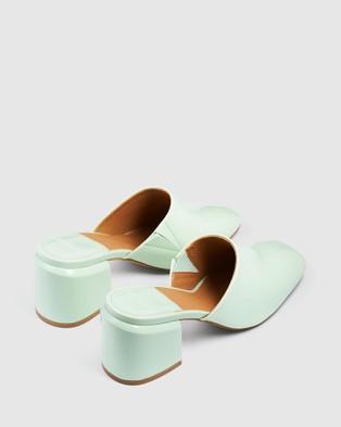 cherrichella Saxon Mules - Heels (Mint)