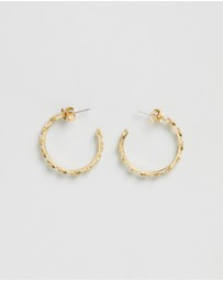Luv Aj - The Mini Pave Star Hoops