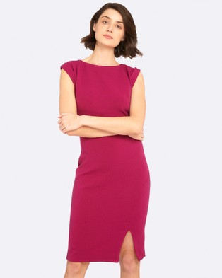 Oxford – Gwendoline Stretch Dress – Bodycon Dresses Deep Orchid