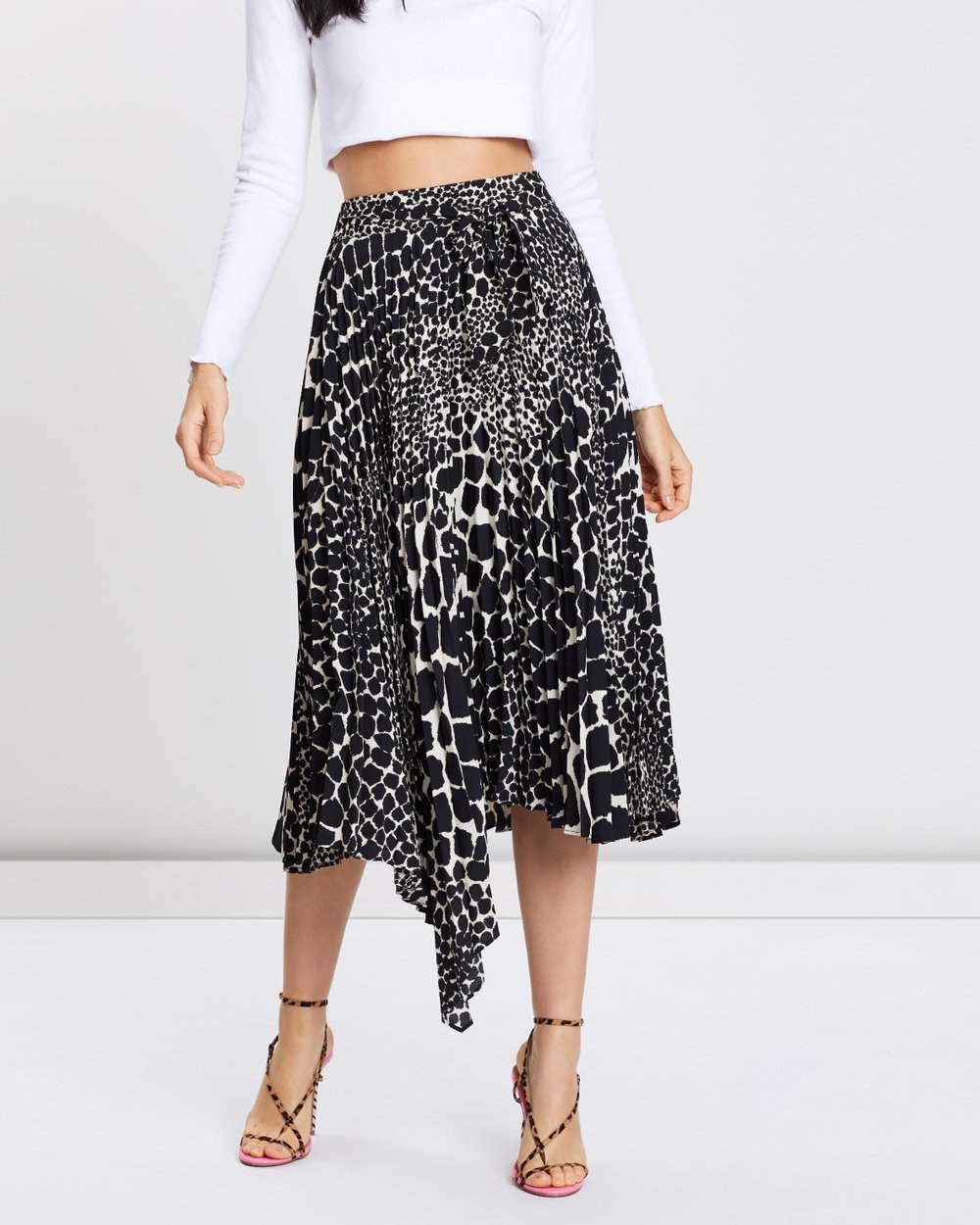 f299904af2 Giraffe Pleat Midi Skirt by TOPSHOP Online | THE ICONIC | Australia