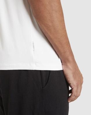 Boody Organic Bamboo Eco Wear - 4 Pack V Neck T Shirt - Short Sleeve T-Shirts (White) 4 Pack V-Neck T-Shirt