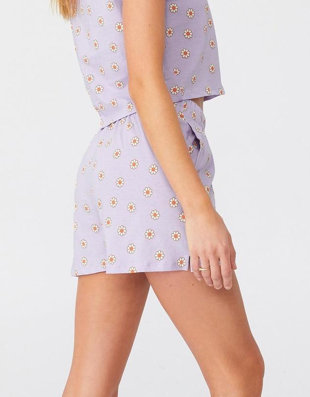 Women Jersey Button Boxer Shorts