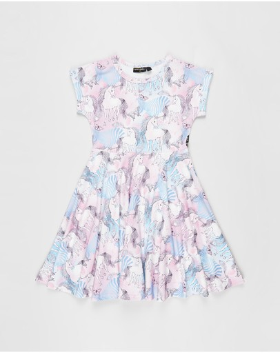 Rock Your Kid - Magic Unicorns SS Waisted Dress - Kids