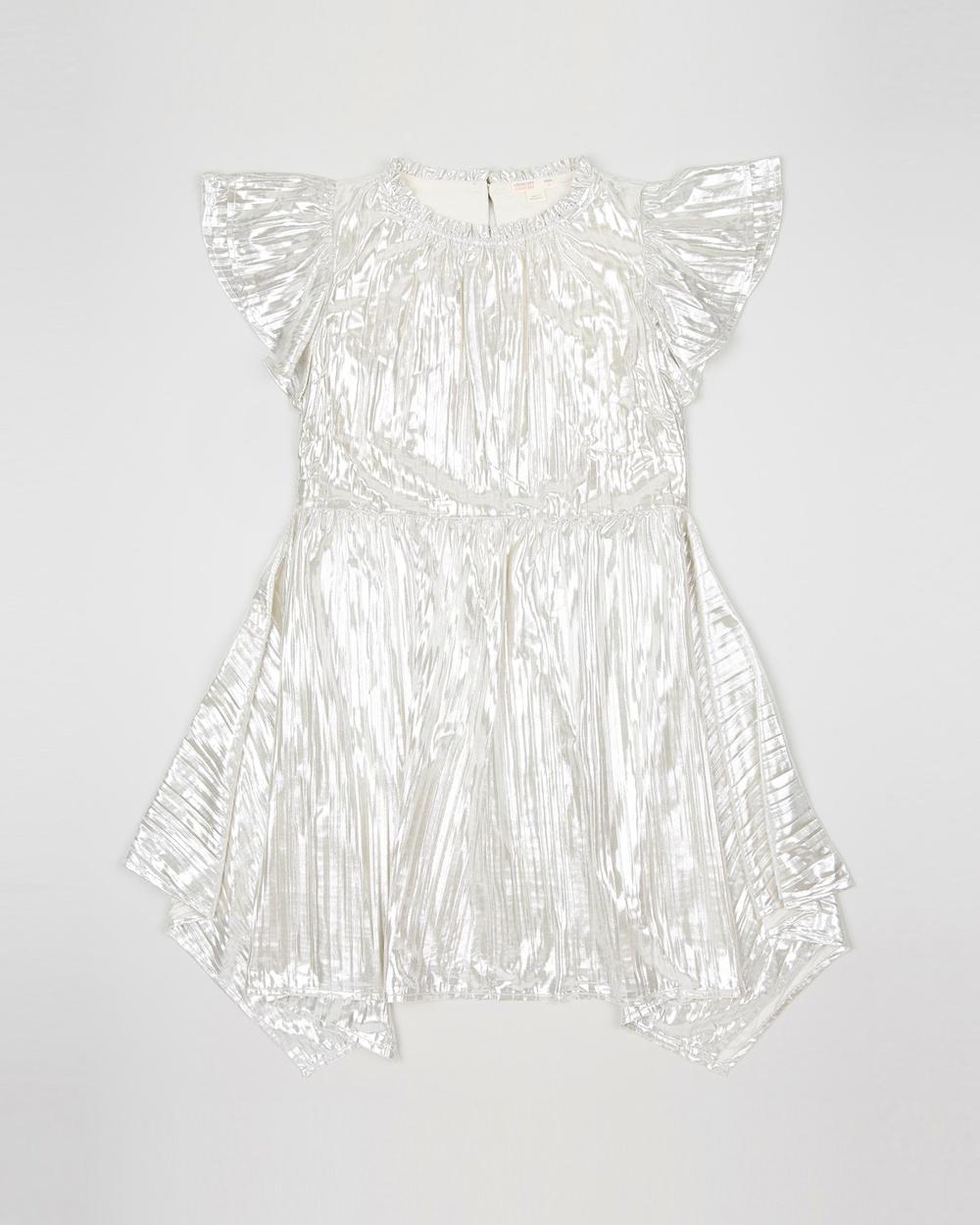 crewcuts by J Crew Silver Shimmer Scarlett Dress – Teens