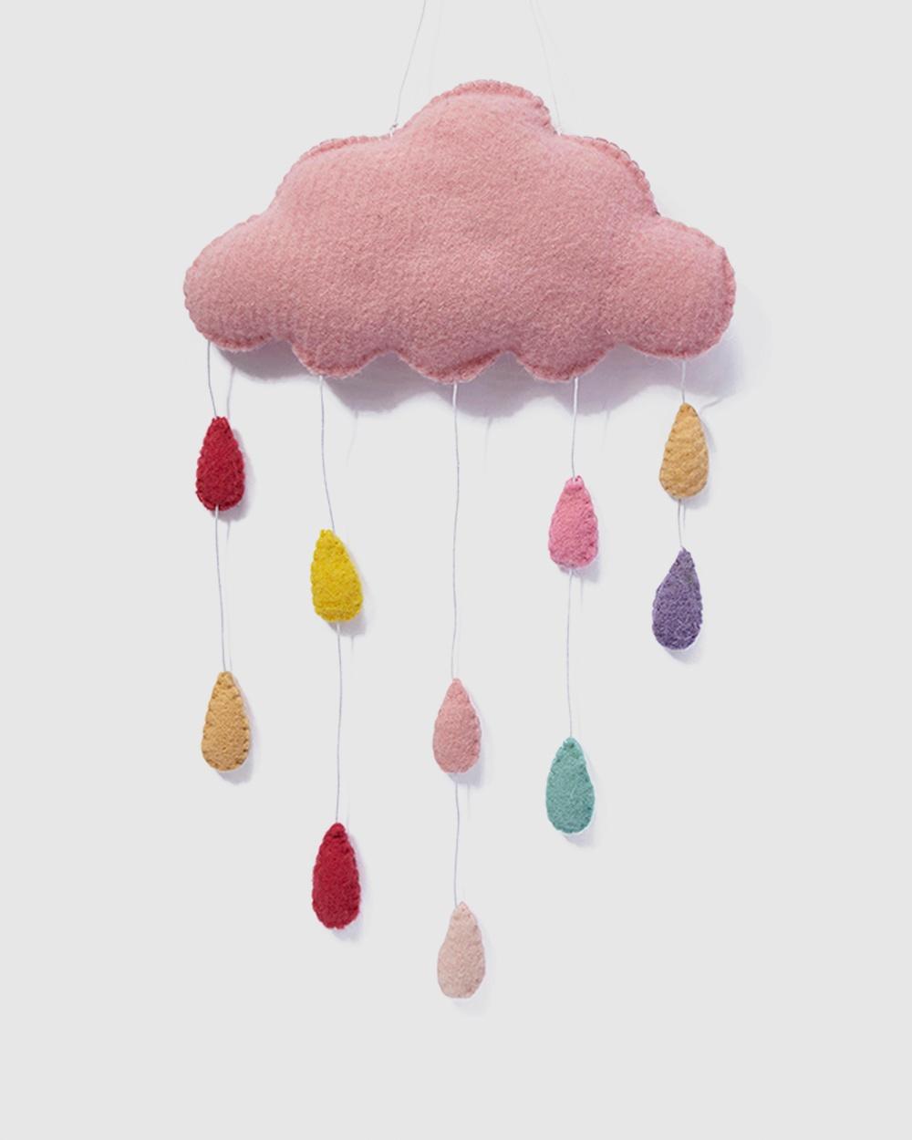 Nana Huchy Cloud Wall Hanging Home Pink