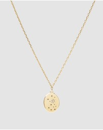 Luna Rae - Solid Gold - Stars of Virgo Necklace