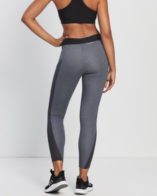 adidas Performance Maternity 7 8 Tights - 7/8 Tights (Dark Grey Heather & White)