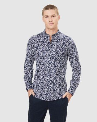 French Connection Leaf Print Slim Fit Shirt - Casual shirts (MULTI)