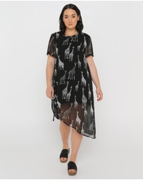 Advocado Plus - Drawstring Longline Tunic