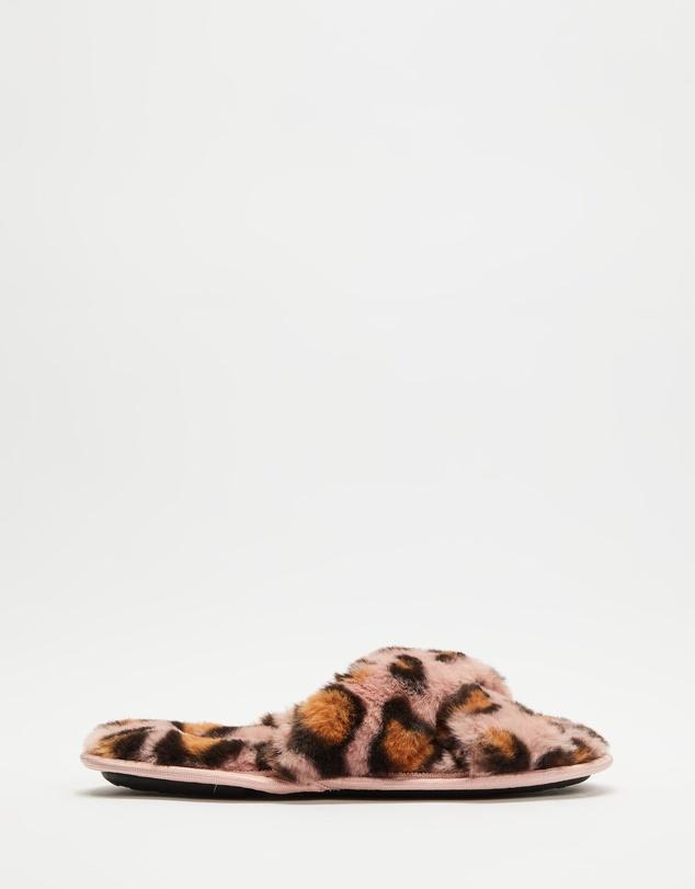 Women Cheetah Slippers