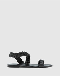 Oxford - Lyla Leather Scruntchy Sandal
