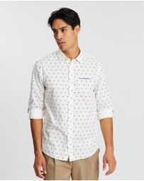 Scotch & Soda - Regular Fit Classic All-Over Printed Pocket Shirt