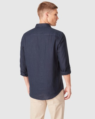 French Connection Soft Cotton Regular Fit Shirt - Casual shirts (NAVY)