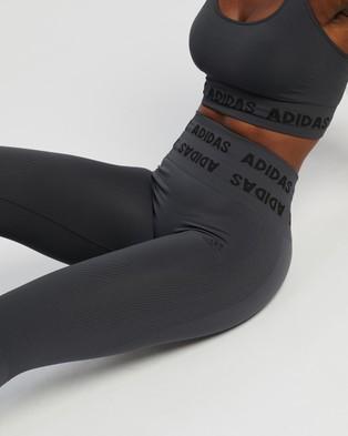 adidas Performance Aeroknit High Rise Tights - 7/8 Tights (Solid Grey)