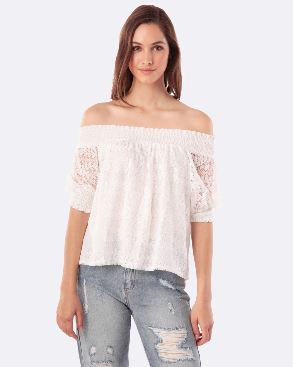 Amelius Celestine Top Tops White Celestine Top