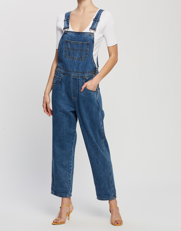 80s Jeans, Pants, Leggings Olive Recycled Cotton Blend Denim Overalls AUD 89.99 AT vintagedancer.com