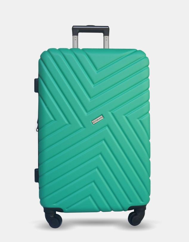 Men Emerald Maze Large Suitcase