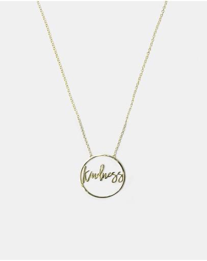 Secret Sisterhood Kindness Necklace Gold
