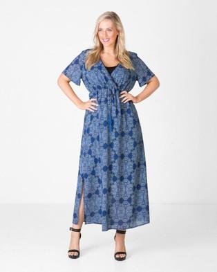 Love Your Wardrobe – Vintage Lace Print Maxi Dress – Dresses (Vintage Lace Print)
