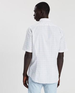 CERRUTI 1881 Graph Check Short sleeved Shirt - Casual shirts (Pink Orange)