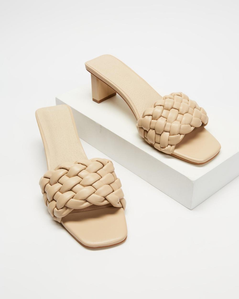 Sol Sana Matias Mules ICONIC EXCLUSIVE Mid-low heels Nude Australia