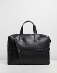 REISS - Isaac Leather Laptop Carrier
