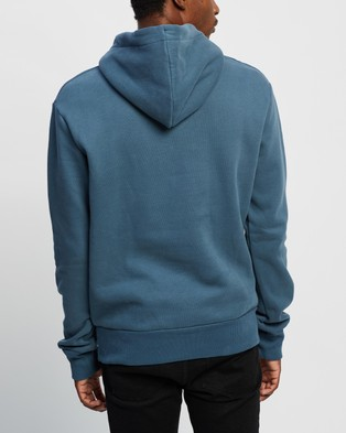 Superdry Core Logo Canvas Hood - Hoodies (Heritage Washed Blue)