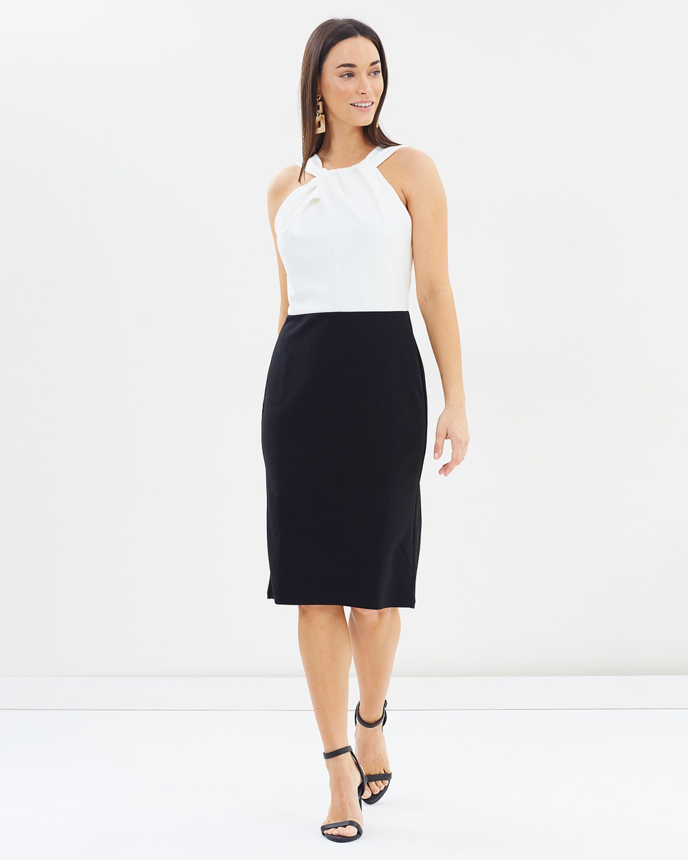 Dorothy Perkins Colour Block Pencil Dress Dresses Black Colour-Block Pencil Dress