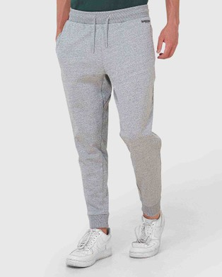Superdry Micro Logo Loose Taper Joggers - Track Pants (Collective Dark Grey Grit)