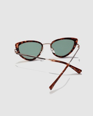 Hawkers Co Carey Green Bottle FELINE - Sunglasses (Brown)