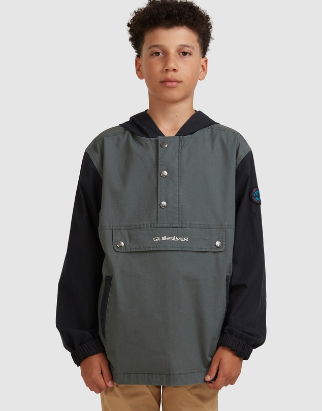 Quiksilver - Boys 8-16 Jump Up Retro Anorak Jacket
