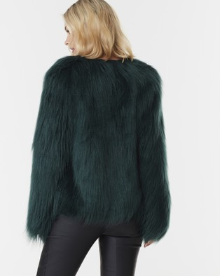 Everly Collective Marmont Faux Fur Jacket - Coats & Jackets (Forest Green)