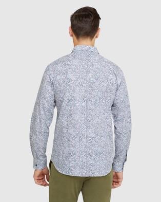 Oxford Kenton Floral Printed Lux Shirt - Shirts & Polos (Blue)