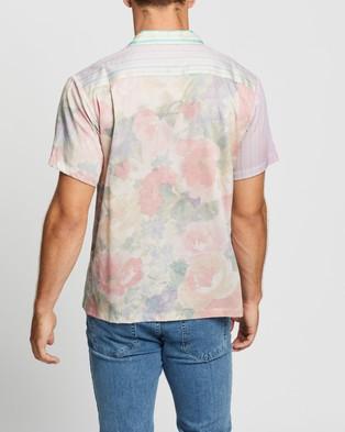 Double Rainbouu Floral Stripe Combo Hawaiian Shirt - Casual shirts (Floral Stripe Combo)