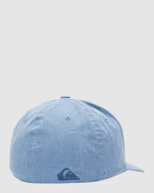 Quiksilver Mens Sidestay Flexfit Hat - Headwear (Navy Blazer)