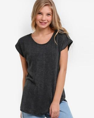 BoyFromBlighty – Knit Tunic Top – Tops (Grey)